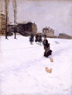 Sulla neve (on the snow) by Giuseppe De Nittis