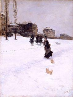 Giuseppe De Nittis, sulla neve