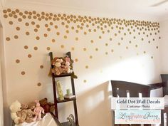 Gold Dots Walls Google Search Pinteres - Gold dot wall decals nursery