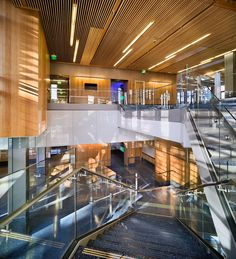 UC Berkeley, Li Ka Shing Center, Berkeley, CA | Architecture: ZGF Architects, LLP | Lighting Design: Pivotal Lighting Design | Photo: Robert Canfield Photography | click for more details