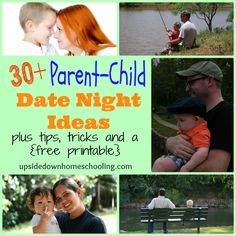 30+ Parent-Child Date Night Ideas {with FREE printable conversation starters}