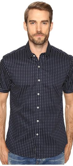 7 Diamonds Midnight City Short Sleeve Shirt (Navy) Men's Short Sleeve Button Up - 7 Diamonds, Midnight City Short Sleeve Shirt, SMK-5552-410, Apparel Top Short Sleeve Button Up, Short Sleeve Button Up, Top, Apparel, Clothes Clothing, Gift, - Fashion Ideas To Inspire