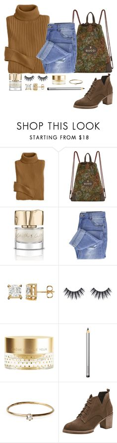 """""""on the go"""" by picassogirl ❤ liked on Polyvore featuring Gucci, Smith & Cult, Taya, Orlane, Laura Mercier and Satomi Kawakita"""