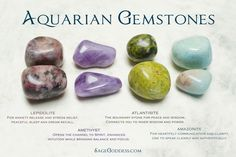 The perfect gift for you or the #Aquarius in your life - an Astrological Set for honoring Aquarius! Aquarian gemstones and all their meanings.