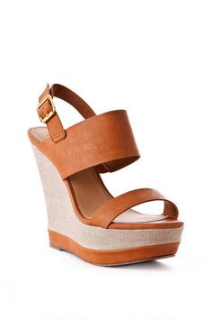 Steve Madden Shoes, Warmthh Leather Wedge in Cognac $79.95