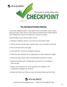 The Job Search Contact Routine - Use these steps in your daily job search routine.