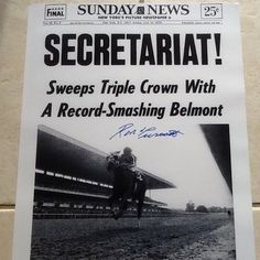 Secretariat.  Triple Crown winner by 31 lengths.  Track record still stands.  ❤❤❤ Still gives me cold chills!