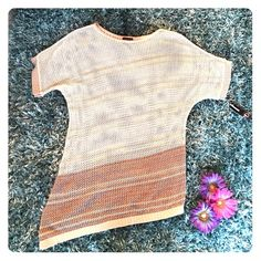 Crochet Long Tunic/Cover Up Net-like design, crochet/knit pattern • 100% Acrylic • Never been worn • New with tag New Directions Tops Tunics