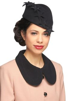 1940s style with patriotic flair #judithm #millinery #hats #felt