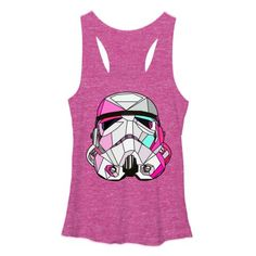 Star Wars Stained Glass Stormtrooper Womens Graphic Racerback Tank - Fifth Sun