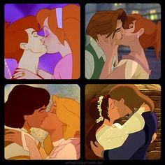 Best non-Disney animated kisses - Cornelius & Thumbelina (Thumbelina)- Dimitri & Anastasia (Anastasia)- Derek & Odette (The Swan Princess)- Kayley & Garrett (Quest for Camelot)