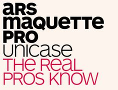 Unsere Hausschrift: ARS Maquette Pro. Zeitlos, gut lesbar und freundlich.