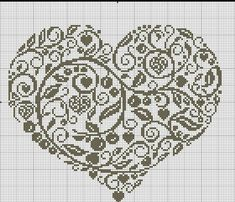 Blackwork Embroidery, Cross Stitch Embroidery, Embroidery Patterns, Wedding Cross Stitch Patterns, Cross Stitch Designs, Cross Stitch Heart, Tapestry Crochet, Arabesque, Cross Stitching