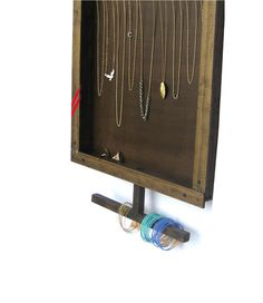 Jewelry Organizer for Necklaces, Bracelets & Rings // Handmade by DesignSea.etsy.com, $84.00