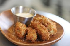 Recipe for: Fried Panko Artichoke Hearts with a Lemon and Mayo Sauce