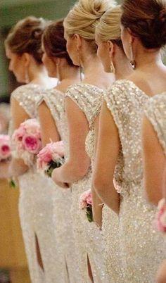 Sparkling Bridesmaid Dresses