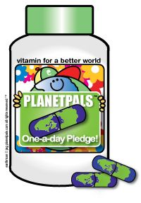'One-a-day pledge' Do one green thing each day to help our earth
