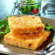 Recette de polenta aux oignons et aux lardons
