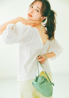 Japanese Models, Japanese Fashion, Bell Sleeves, Bell Sleeve Top, Erika, Fashion Models, Feminine, Sibling, Blouse