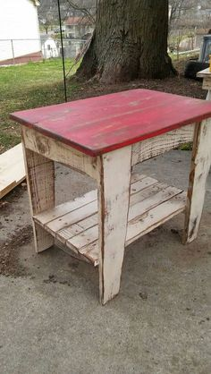 Pallet Furniture Reclaimed Wood End Table Nightstand Rustic Two Tone Nightstand End Table Primitive Side Table Shabby Chic Pallet Wood Reclaimed Wood Projects, Reclaimed Furniture, Primitive Furniture, Pallet Furniture, Furniture Projects, Western Furniture, Country Furniture, Primitive Tables, Diy Projects