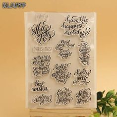 Cheap clear stamps, Buy Quality transparent clear silicone stamp directly from China clear silicone stamp Suppliers: KLJUYP Merry Christmas Transparent Clear Silicone Stamp/Seal for DIY scrapbooking/photo album Decorative clear stamp sheets Christmas Holidays, Merry Christmas, Cheap Christmas, Christmas Decorations, Diy Scrapbook, Scrapbooking, Clear Silicone, Art, Scrapbooks