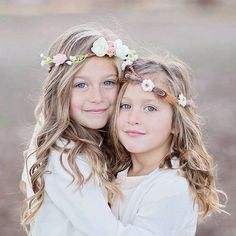 Image result for sisters photoshoot flower headbands