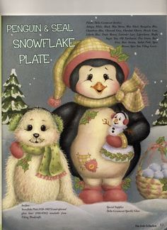 debby - Jacqueline Buriche - Álbuns da web do Picasa Christmas Animals, Christmas Books, Christmas Crafts, Santa Paintings, Christmas Paintings, Penguin Art, Tole Painting Patterns, Pintura Country, Country Paintings