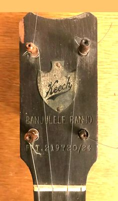 "Old Keech ""banjulele banjo"" Banjo Ukulele, Bottle Opener, Music Instruments, Bling, Logos, Art, Art Background, Jewel, Musical Instruments"