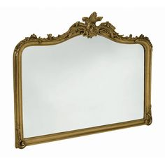 Laura Ashley Patricia Gold Overmantel Mirror ($365) ❤ liked on Polyvore featuring home, home decor, mirrors, painted mirrors, gold leaf mirror, ornate mirror, leaf mirror and brown mirror