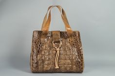 Binta's Alligator skin purse by Senegaleseart on Etsy