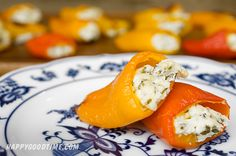Herbed Goat Cheese Stuffed Mini Bell Peppers