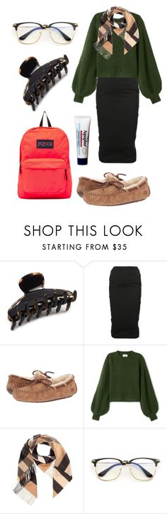 """Sem Series IX: The Well-Dressed Shlump"" by tokayerj on Polyvore featuring Alexandre de Paris, Rick Owens, UGG Australia, Burberry, Aquaphor and JanSport"