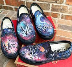 ba79275e053b Custom Vans Cosmic Galaxy Shoes for Bride and Groom