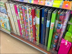 This Precision Peg Hook Wrapping Paper Display is so accurately spaced it has the appearance of a rowed Rack Shelf-top Display Rack Shelf, Wraps, Gift Wrapping, Paper, Gifts, Retail Displays, Hooks, Design, Wire