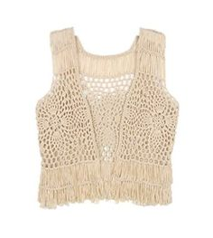 fringe tank top crochet pineapple stitch