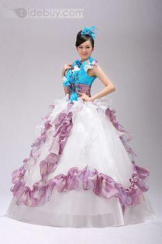 US$216.99 Pretty Color Ball Gown Floor-length Appliques Quinceanera Dress. #Event #Appliques #Dress #Ball