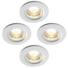 Luceco Atom 5W Dimmable Warm White LED Fire Rated Downlights – Pack of 4