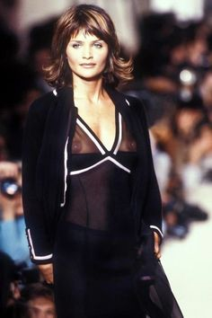 Helena Christensen for Chanel Fall/Winter 1994 Crappy fashion but thanks for creating the moment!