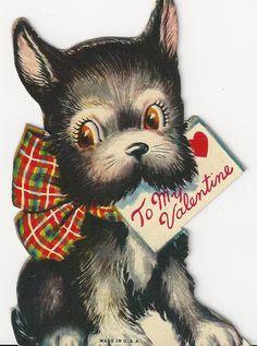 Valentine puppy #vintagevalentine #valentine #valentinecard