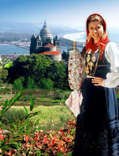 Minho's Lady in traditional outfit, Viana do Castelo, Portugal