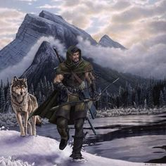 Ranger and wolf. from http://wingmind.wordpress.com/2012/02/24/dd-heros/