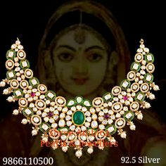 Pacchi polki necklace in silver Shree Ambica Pearls And Jewellers 9866110500 Jewellery, Jewels, Silver, Jewerly, Schmuck, Gemstones, Jewelry Shop, Fine Jewelry, Gem