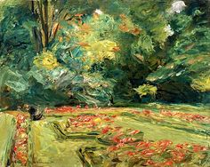 ❀ Blooming Brushwork ❀ garden and still life flower paintings - Blumenstauden im Wannseegarten, 1919. Max Liebermann (1847-1935)