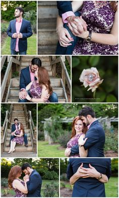 Raleigh Rose Garden engagement session. Couples posing ideas. Poses. Ring shot.   Ashley Nicole Photography | North Carolina & Destination Wedding Photograper | www.ashleynicoleblog.com | #ashleynicoleweddings