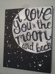 Starting to paint again :)  #love #painting #canvas  #moon I love you to the moon and back