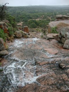 Texas Parks and Wildlife shared Texas Parks and Wildlife - Enchanted Rock State Natural Area's photo.  Recent rains create a small waterfall at Enchanted Rock near Fredericksburg. Who else enjoyed some rain?