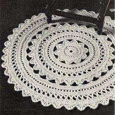Crochet Doily Round Rug
