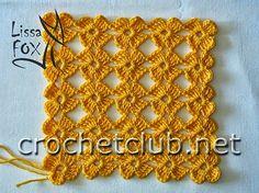 As Receitas de Crochê: Ponto de flores em crochê feito direto