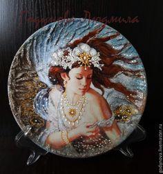Купить Мои красивые тарелочки В стране грез - разноцветный, тарелка, Тарелка декоративная