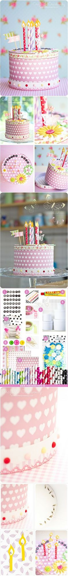 Diy Projects: DIY Washi Tape Paper Cake
